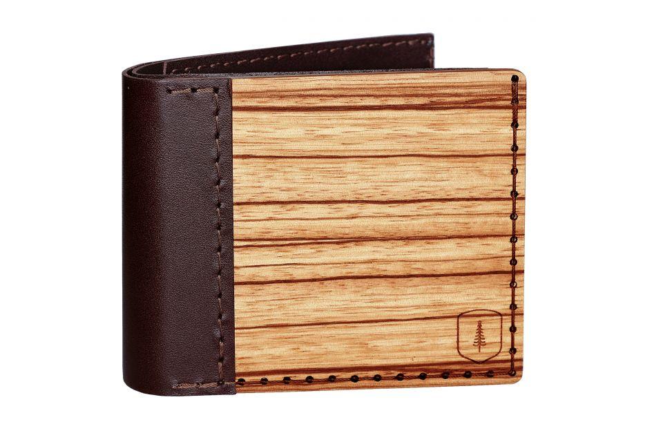Pánská dřevěná peněženka Lineari
