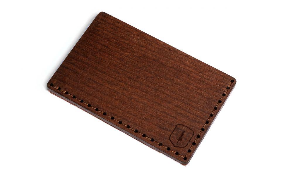 Luxusní dřevěná peněženka s koženými detaily Lineari