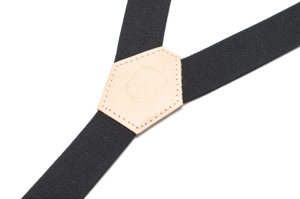 Luxusní kšandy s dřevěnými detaily Lux Suspenders