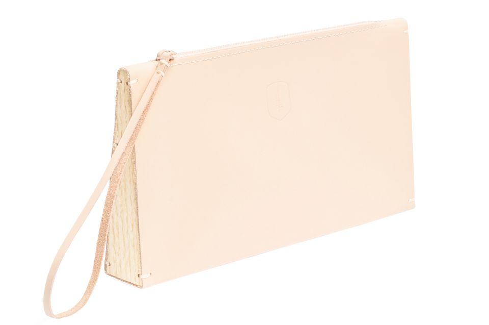 Luxusní růžové kožené psaníčko Lux Clutch