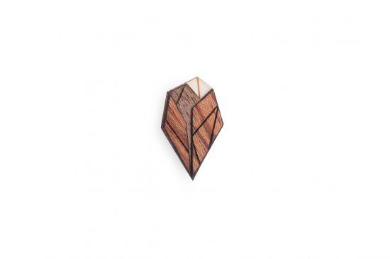 Dřevěná ozdoba do saka Arb Lapel pro muže