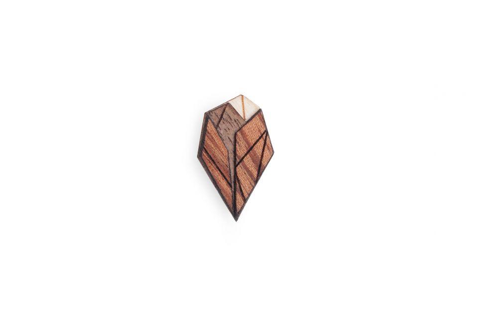 Dřevěná ozdoba do klopy Arb Lapel