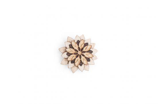 Dřevěná ozdoba do saka Bellis Flower pro muže