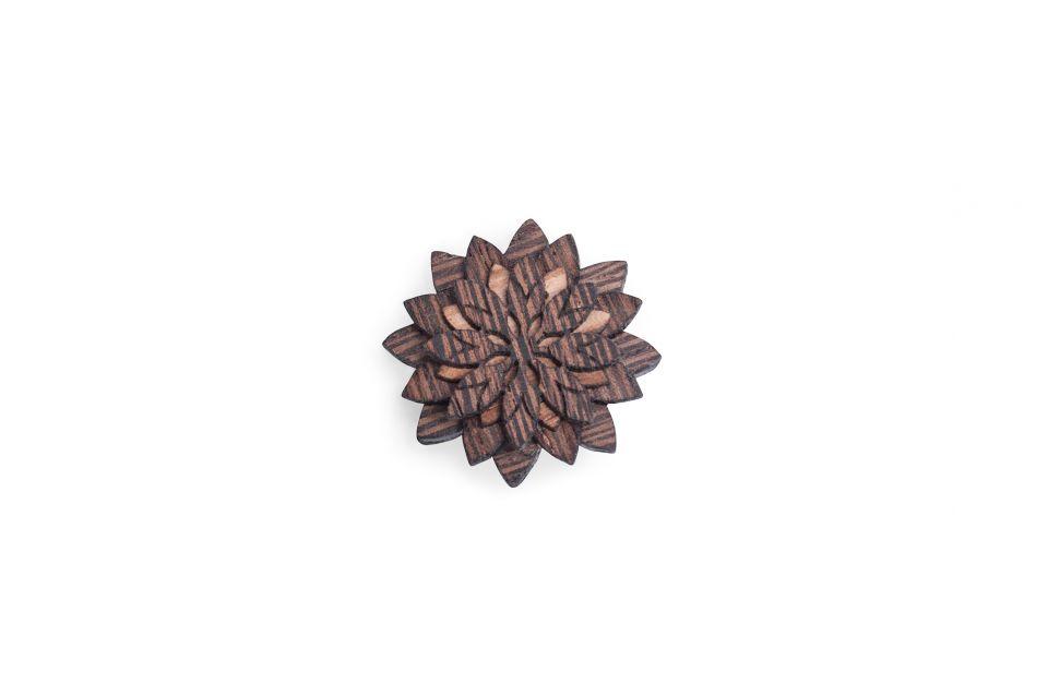Dřevěná brož Deco Flower