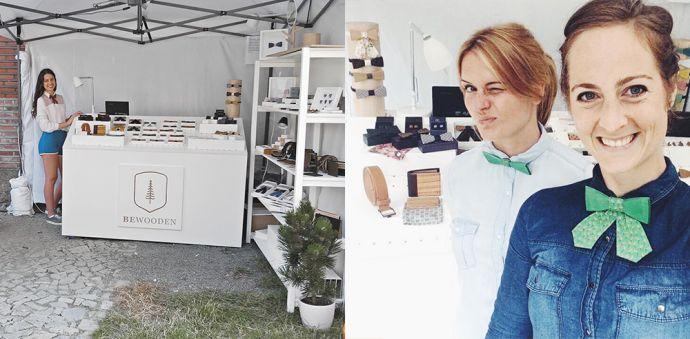 BeWooden stánek s dřevěnými produkty na Colours of Ostrava