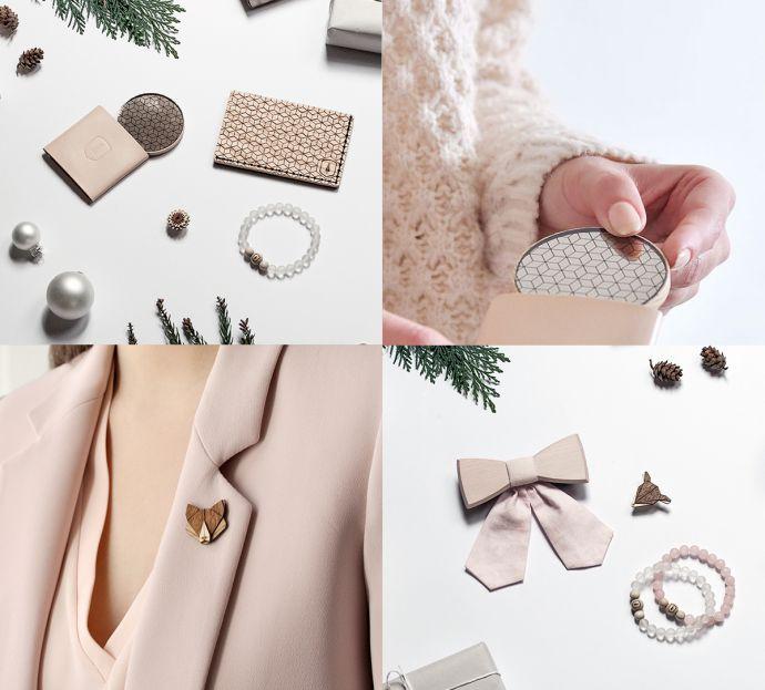 Dřevěné doplňky pro dámy od BeWooden s vánočními motivy