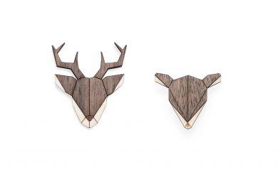 BeWooden - Doe and deer 0