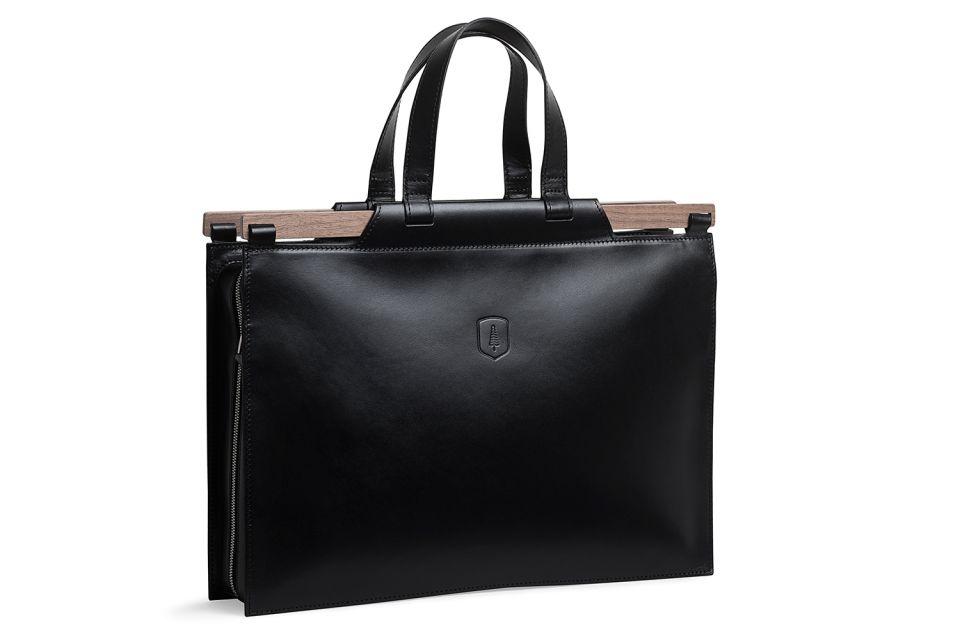 Luxusní ručně vyráběná kožená business taška BeWooden