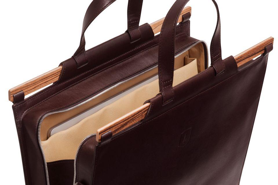 Ručně vyráběná exkluzivní pánská taška z pravé kůže Lineari Handbag