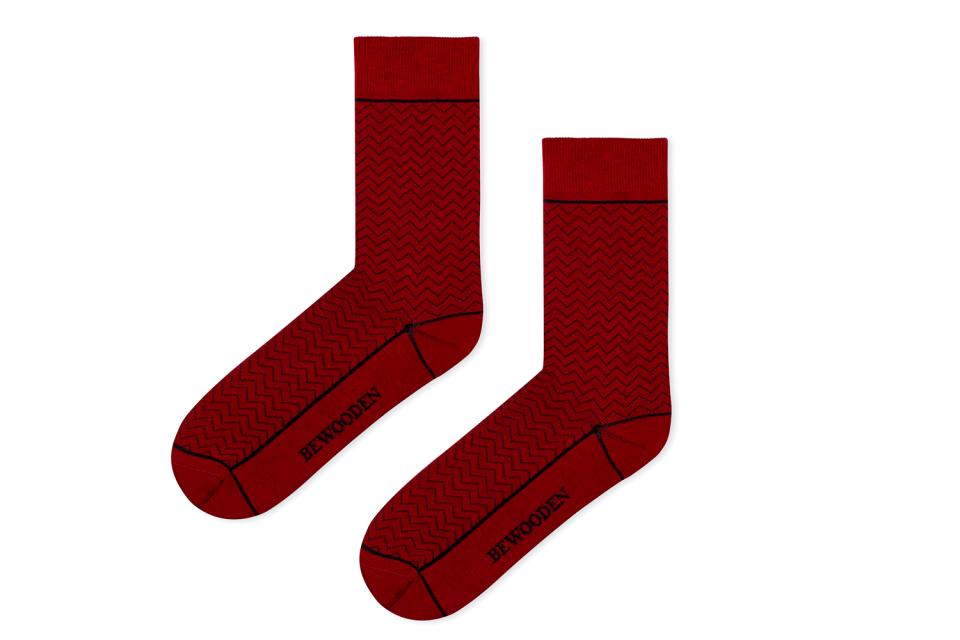 Nápadité bavlněné ponožky BeWooden Red Socks