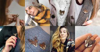 BeWooden - Dřevěné brože – doplněk inspirovaný přírodou