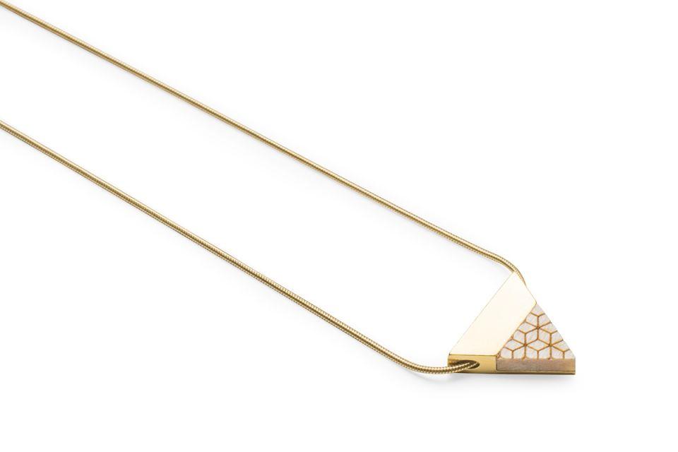 Luxusní zlatý náhrdelník Liti Necklace Triangle