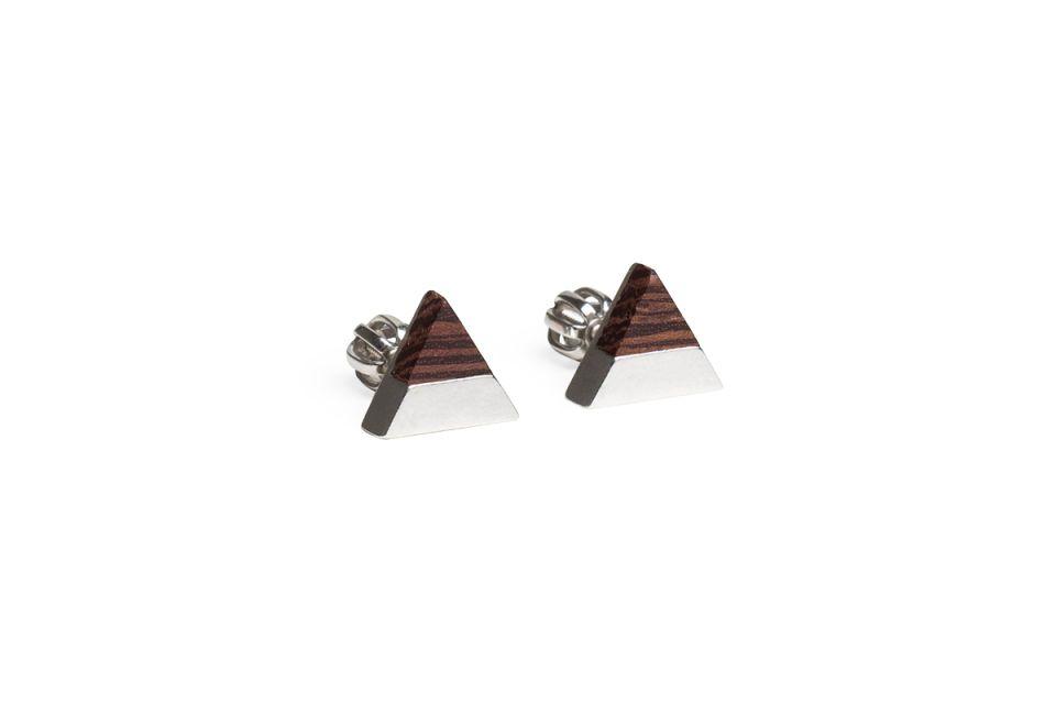 Luxusní náušnice z pravého stříbra Deco Earrings Triangle