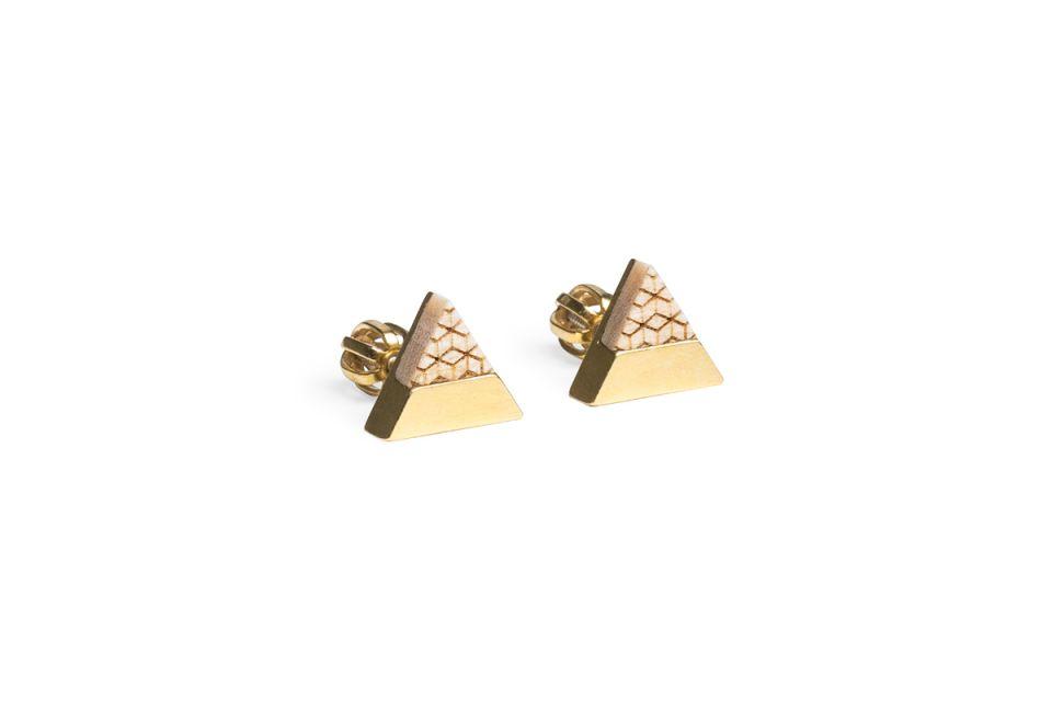 Luxusní zlaté náušnice Liti Earrings Triangle