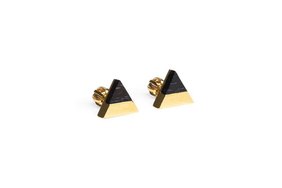 Luxusní zlaté náušnice Vespa Earrings Triangle