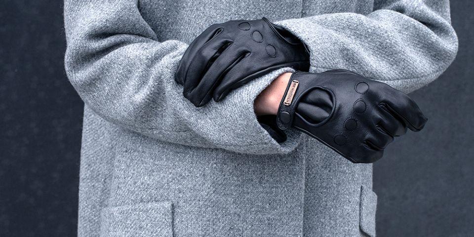 Kožené rukavice Nox Gloves Man s dřevěným detailem  626929c453