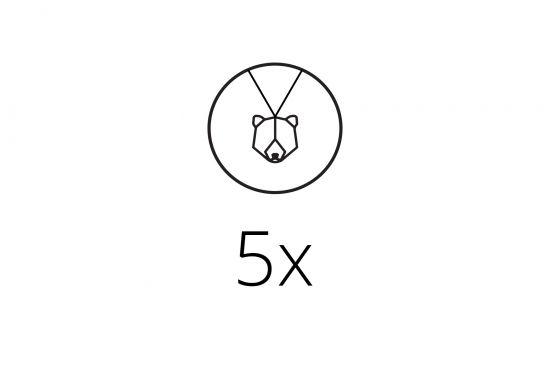 BeWooden - 0 5x Pendant Set