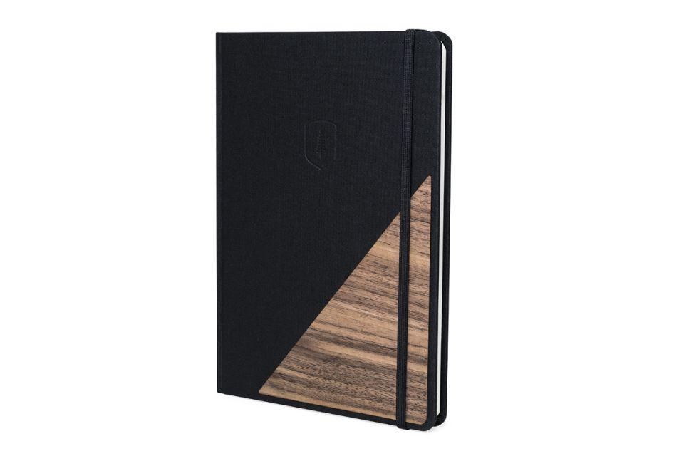 Dřevěné zrcátko VespaLuxusní zápisník z kvalitního papíru s dřevěným prvkem