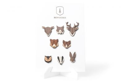 BeWooden - 0 Brooches Stand – white