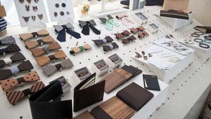 Stůl s Bewooden produkty na Colours of Ostrava