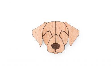 Dřevěná brož ve tvaru psa Labrador Brooch s praktickým zapínáním a možností výměny či vrácení do 30 dnů zdarma