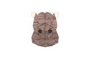 Hippo Brooch