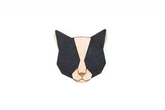 BeWooden - Black Cat Brooch