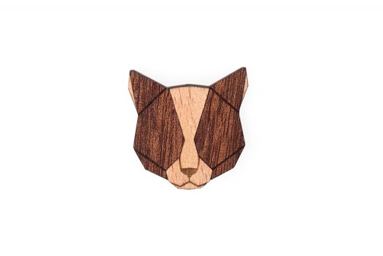 Red Cat Brooch