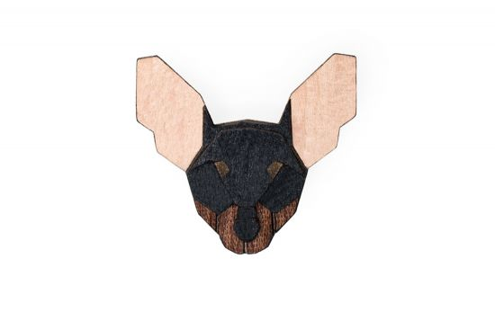 BeWooden - Prague Ratter Brooch