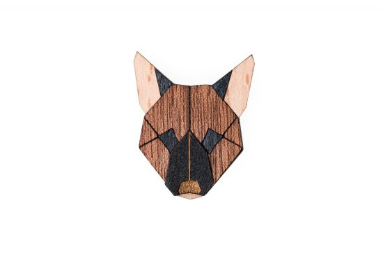 BeWooden - German Shepherd Brooch