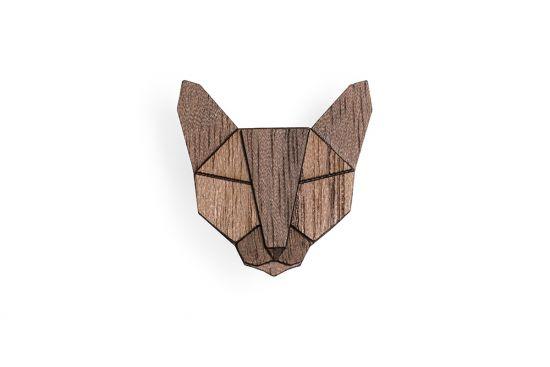 BeWooden - Russian Cat Brooch