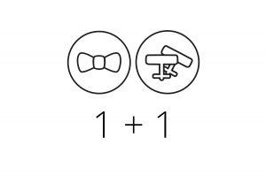 1+1 Bowtie & Cufflinks