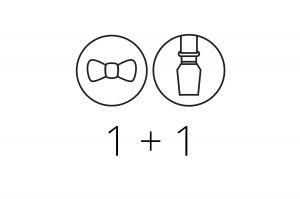 1+1 Bowtie & Suspenders
