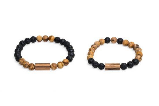 BeWooden - 0 Cora & Lava Couple Bracelets