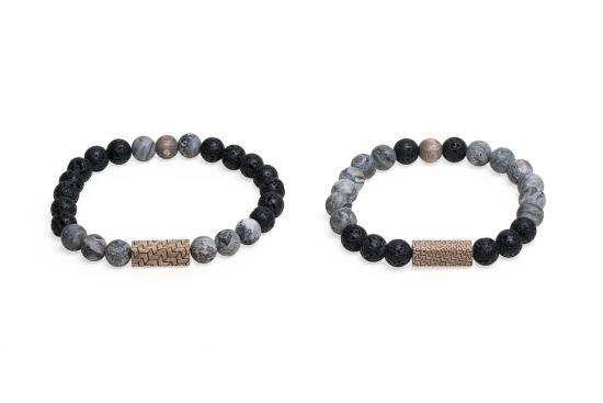 BeWooden - 0 Viame & Lava couple bracelets