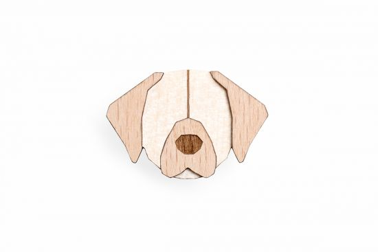 BeWooden - 0 Golden Retriever Brooch