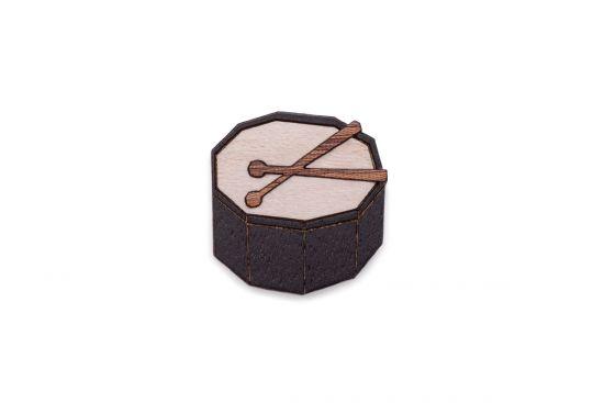 BeWooden - Drum brooch
