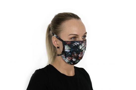 Bavlněná stylová rouška Rose Mask BeWooden