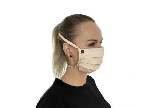 Bavlněná stylová rouška Creame mask - BeWooden