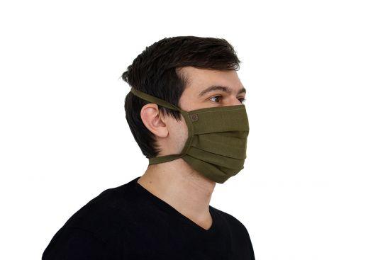 BeWooden - Bavlněná stylová rouška Khaki Mask BeWooden