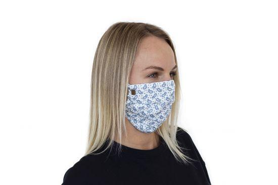 Bavlněná stylová rouška Paisley Mask - BeWooden