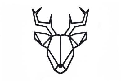 Dřevěná dekorace na zeď Deer Siluette s možností výměny či vrácení do 30 dnů