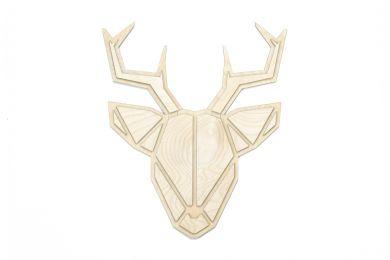 Dřevěná dekorace na zeď Deer Polygon s možností výměny či vrácení do 30 dnů
