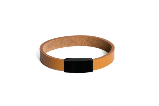 Cognac Leather Bracelet - Thin