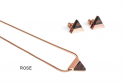 Triangle Earrings & Necklace