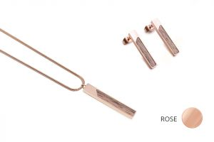 Rectangle Earrings & Necklace