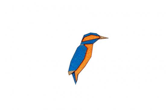 Kingfisher Brooch
