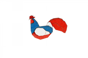 France Rooster Brooch