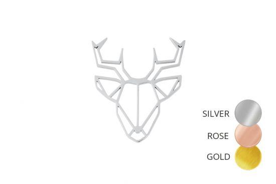 Deer Steel Brooch